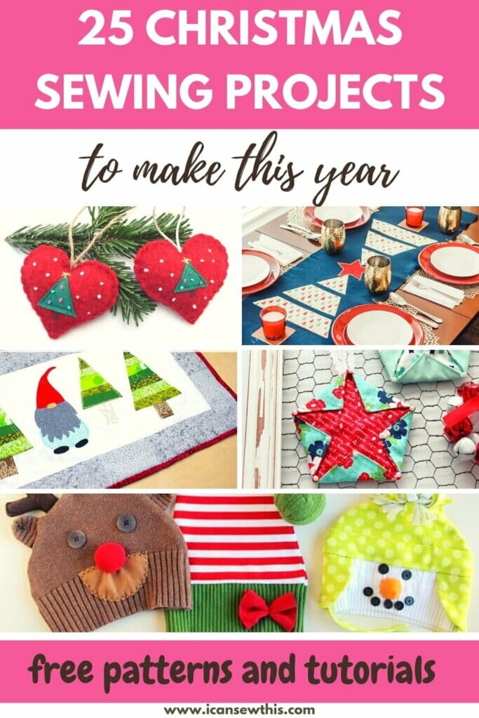 25 best free Christmas sewing projects