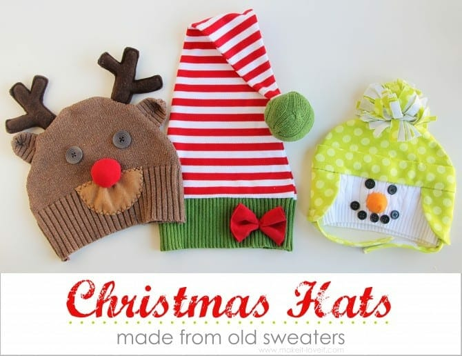 free Christmas sewing projects, kids hats