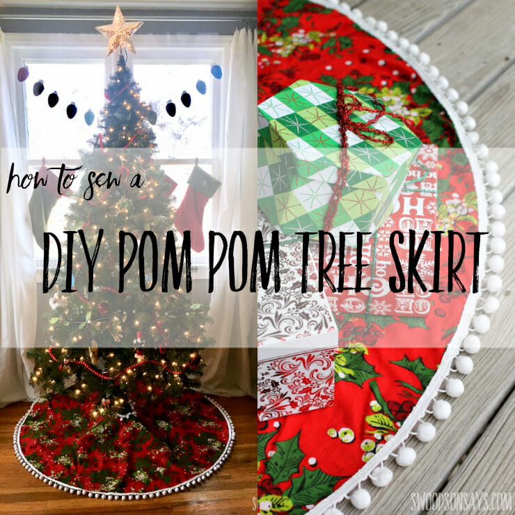 DIY Pom Pom Tree Skirt