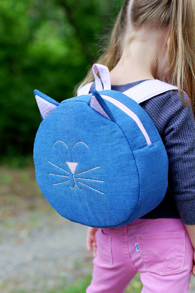 Free cat backpack pattern