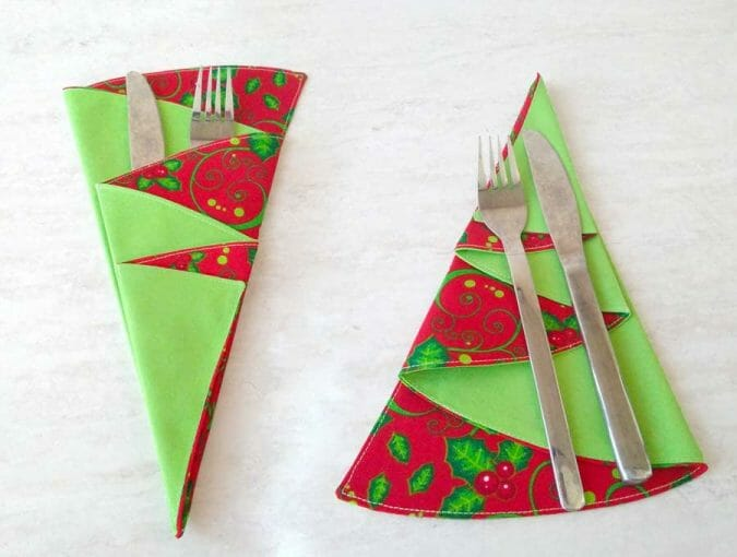 DIY Christmas tree napkins
