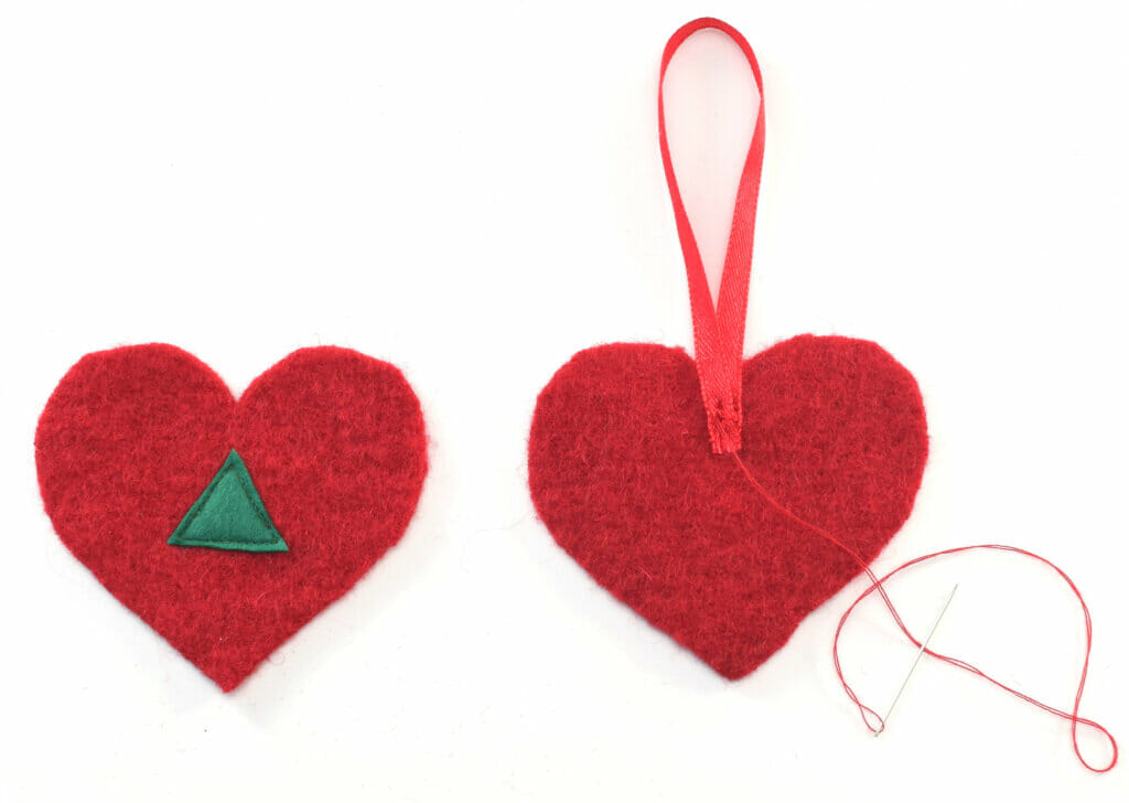 pattern pieces heart ornament