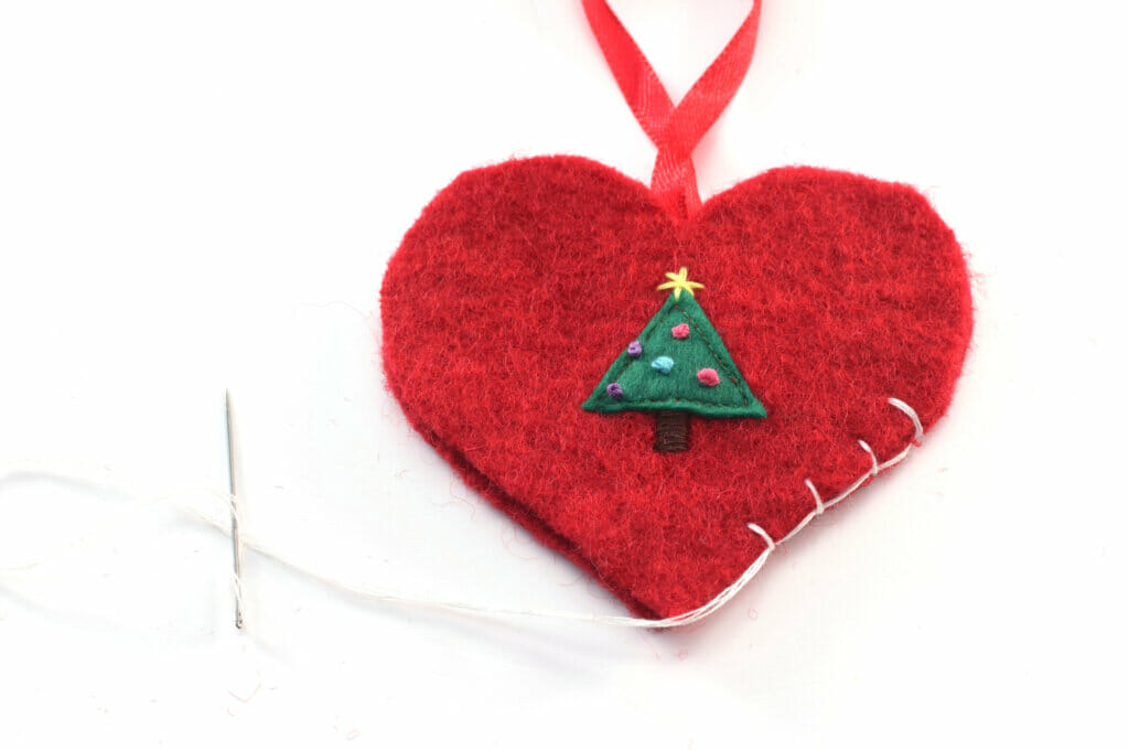 blanket stitch, Christmas ornament