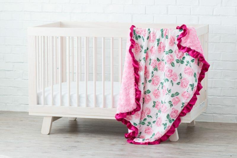 Ruffled baby blanket tutorial