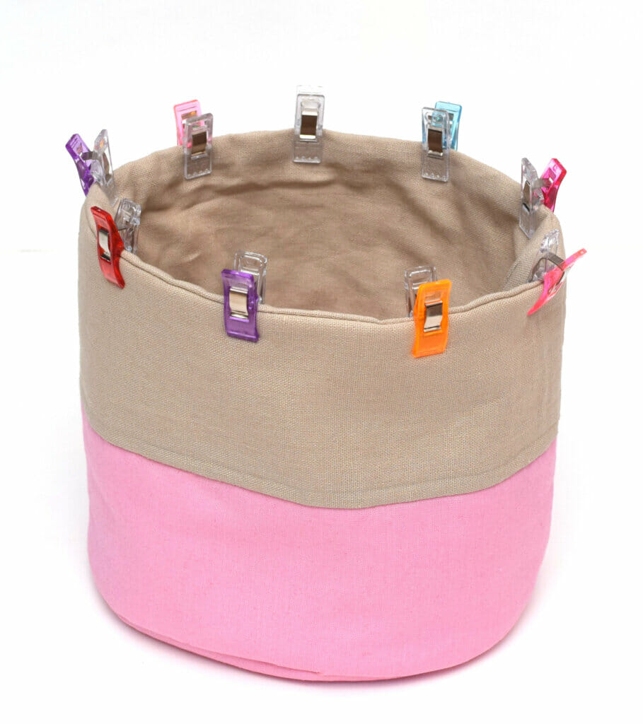 free round fabric basket sewing pattern