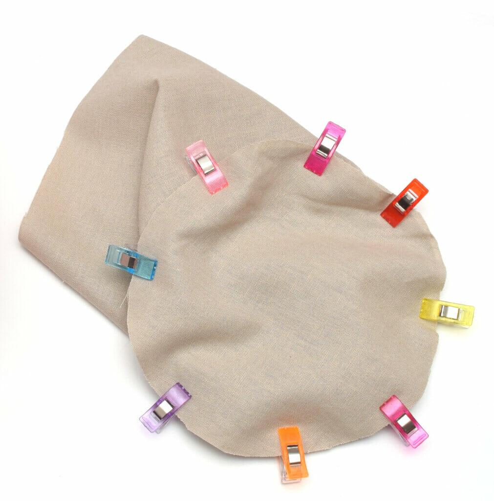 round fabric basket lining, sewing pattern