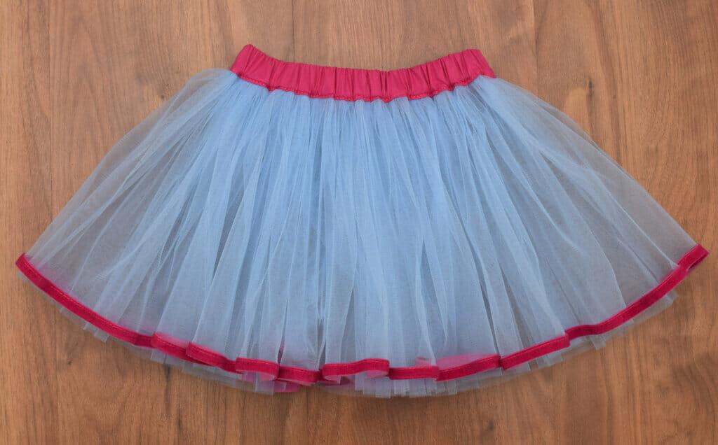 DIY tutu skirt, pink and blue