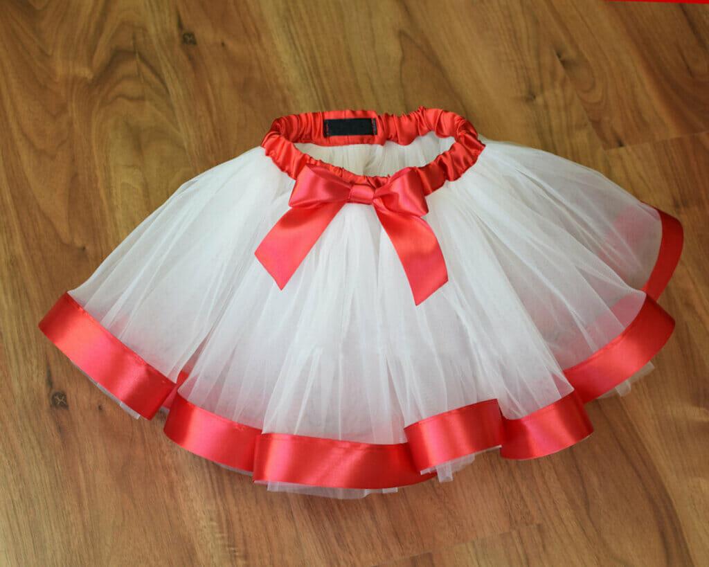 red and white tutu skirt
