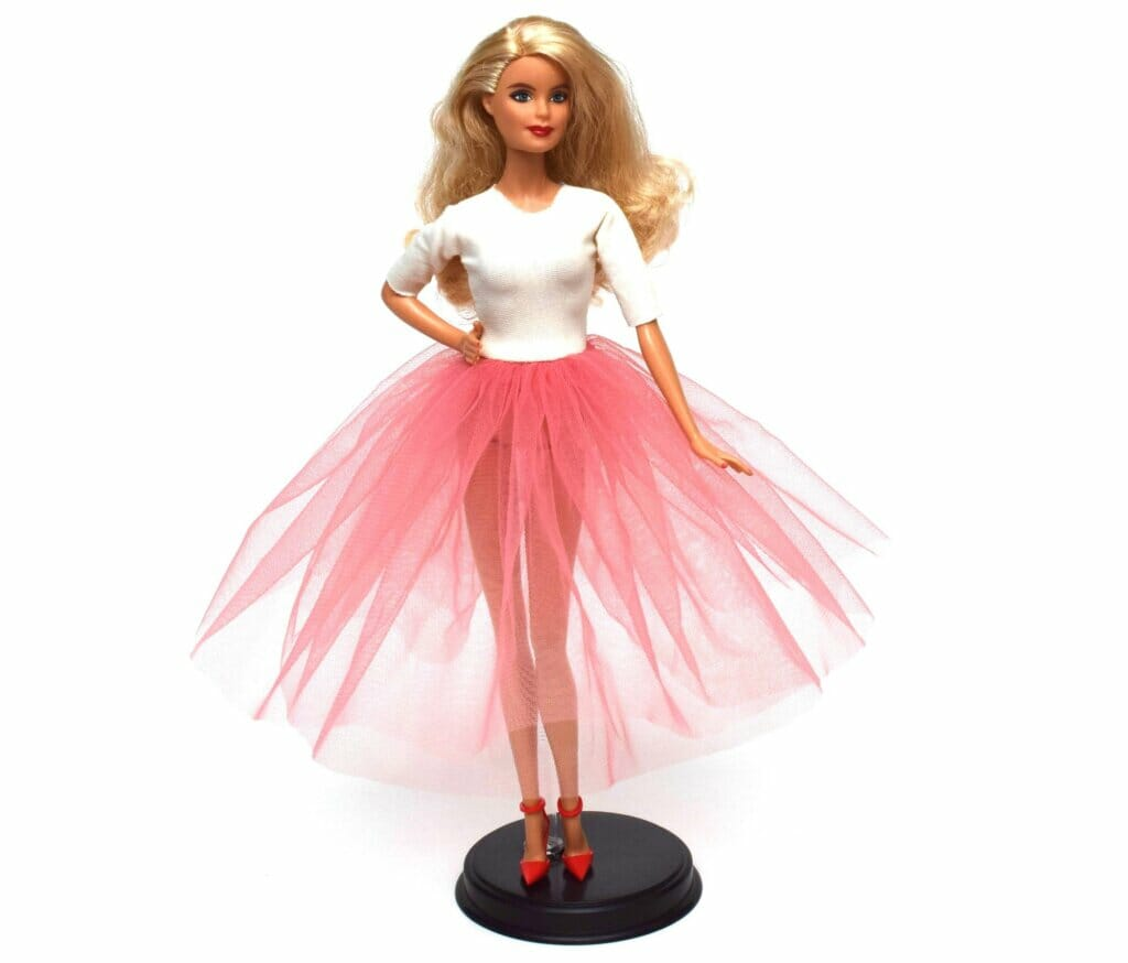 DIY Barbie tulle dress