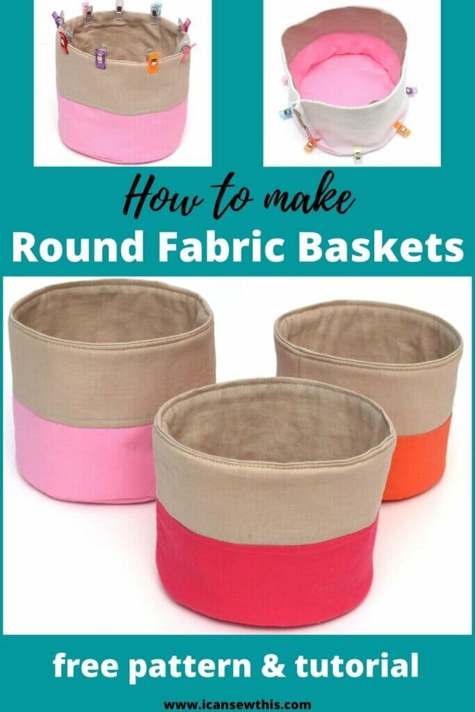 free round fabric basket pattern
