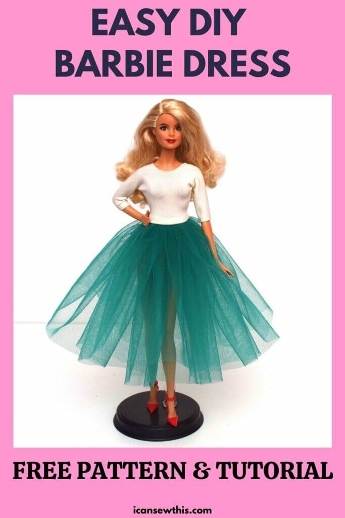 10-minute Barbie dress pattern