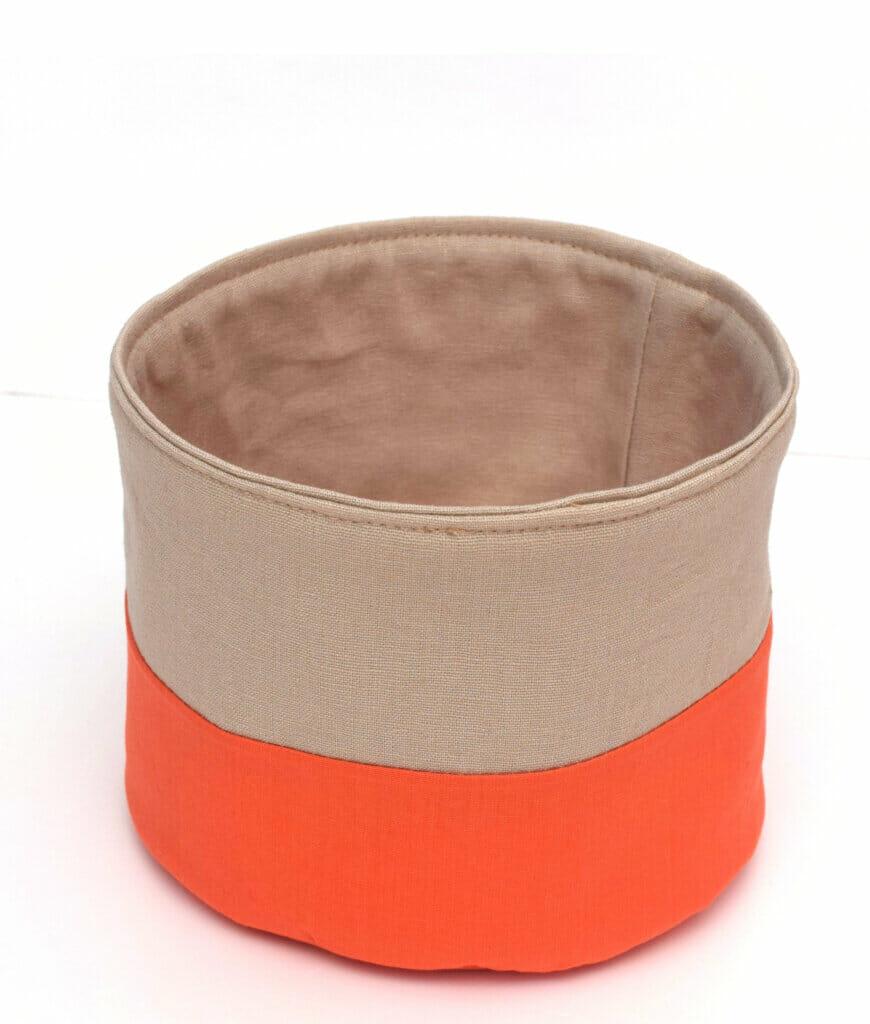 flat bottom fabric basket tutorial
