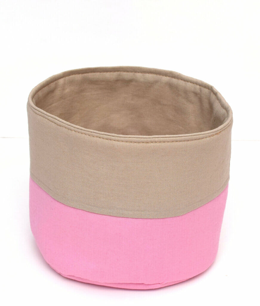 circle fabric basket sewing pattern