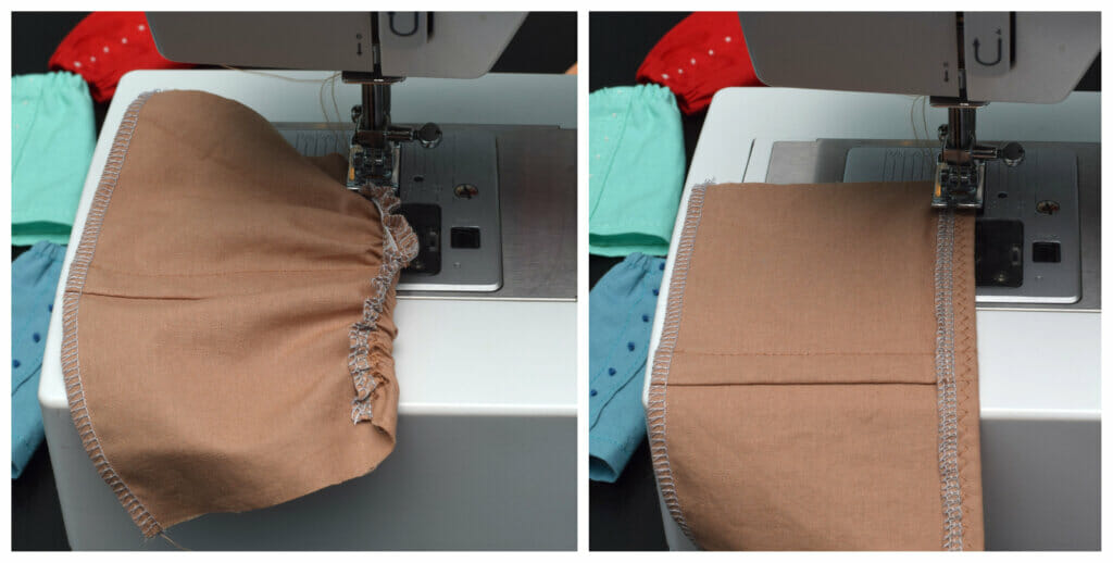 sewing machine, doll skirt