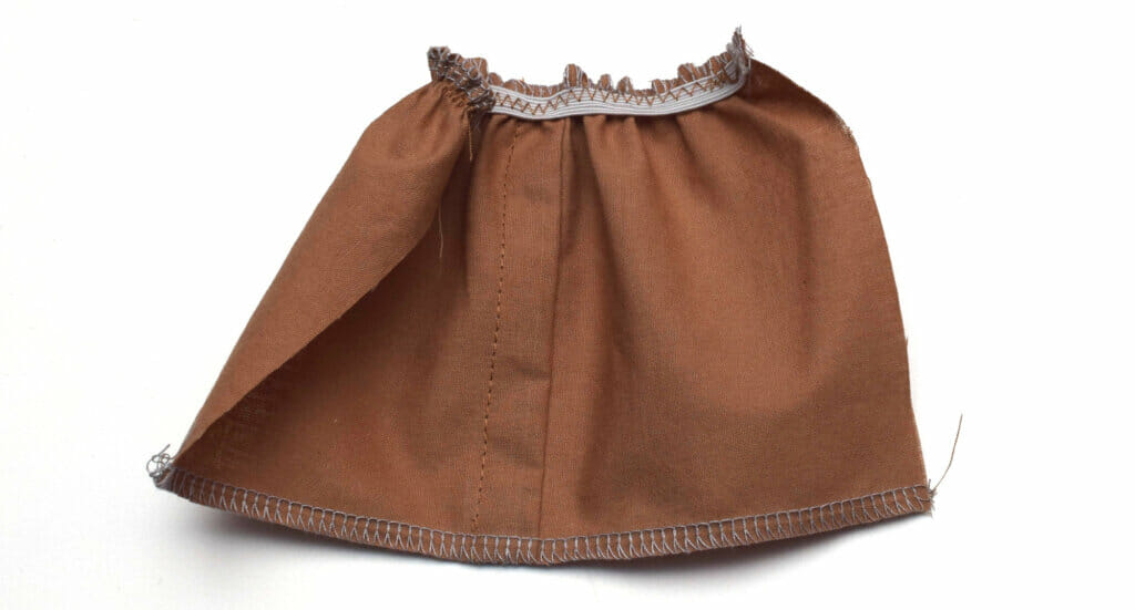 elastic waistband doll skirt