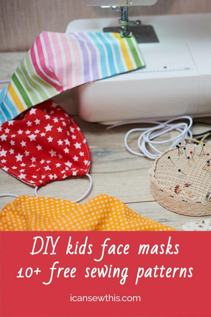 DIY sewing kids face masks