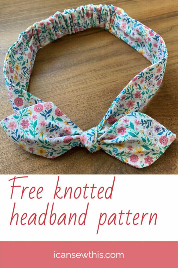 Free knotted headband pattern