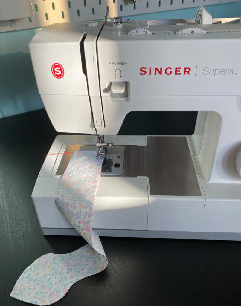 DIY headband, sewing machine