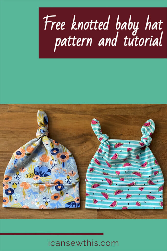 Free knotted baby hat pattern