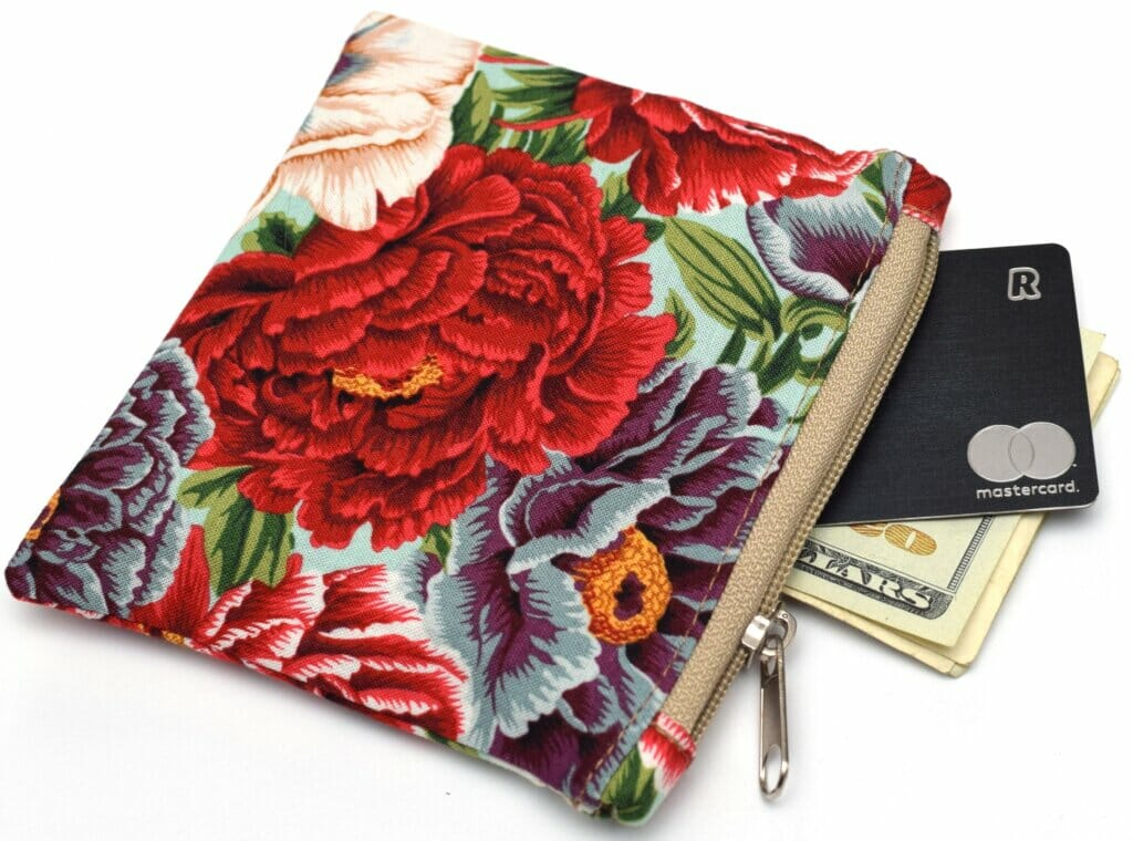 DIY small zipper pouch