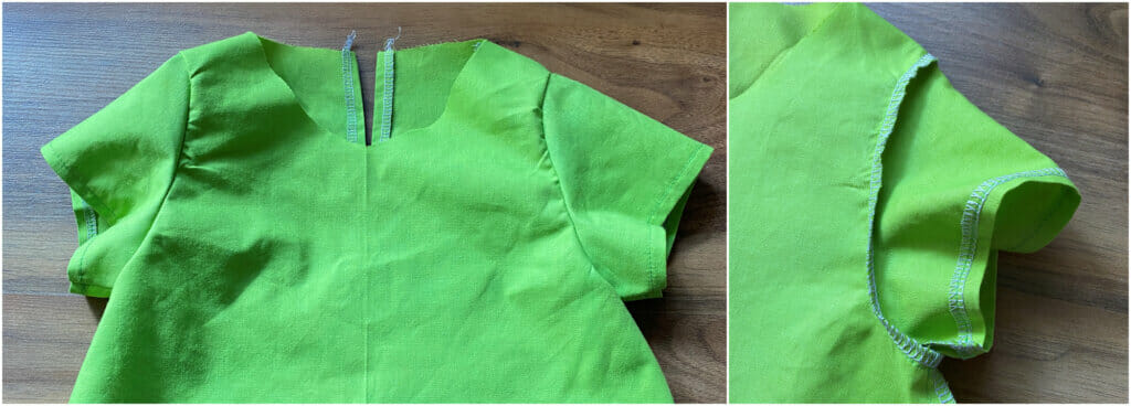 insert the sleeves - sewing tutorial