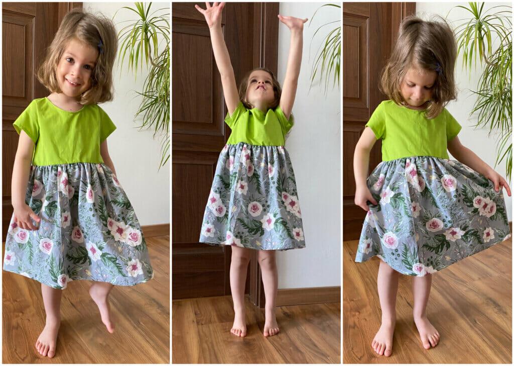 short sleeve gathered dress tutorial