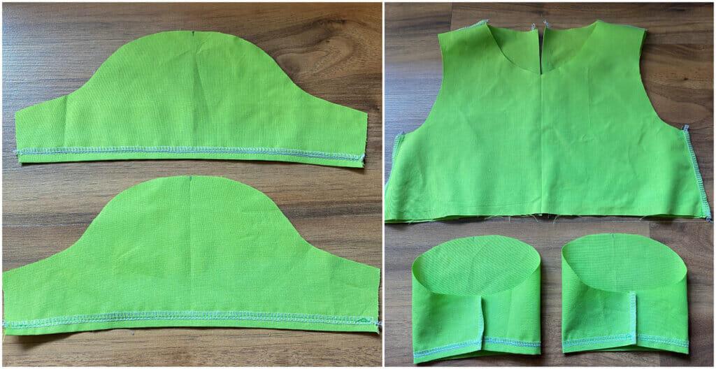 prepare the sleeves - gathered girls dress tutorial