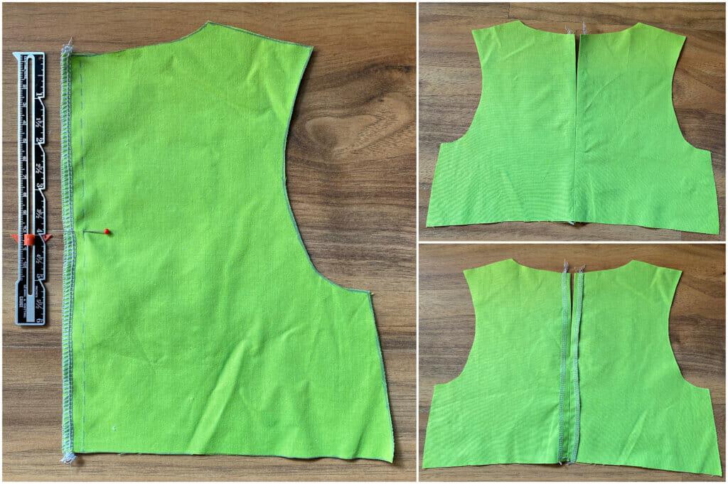 sew the center back seam