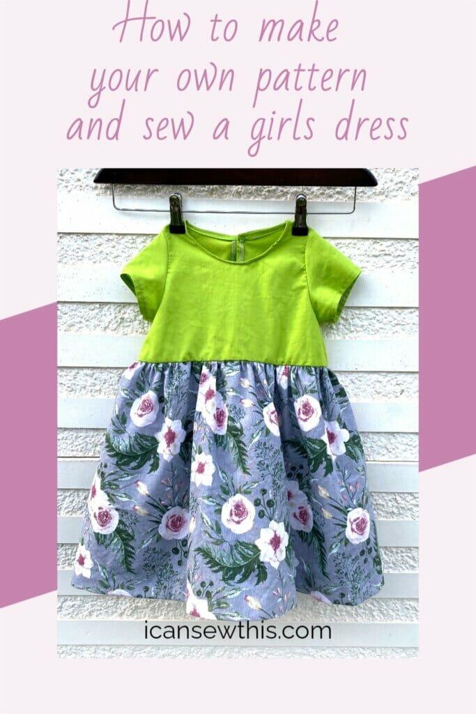 DIY gathered dress for girls tutorial