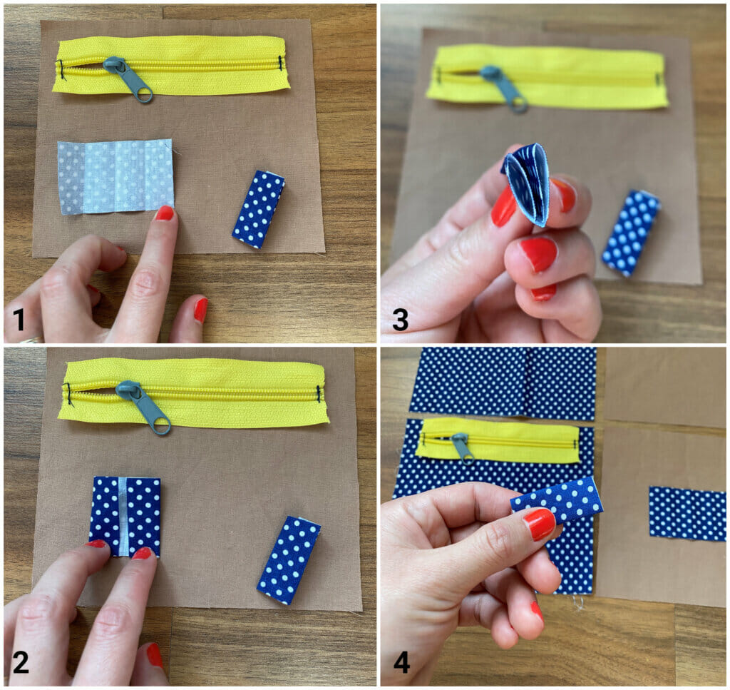 making zipper tabs