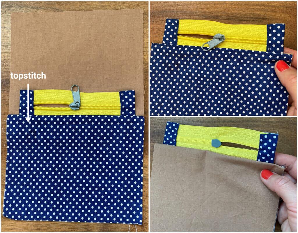 topstitch zipper pouch
