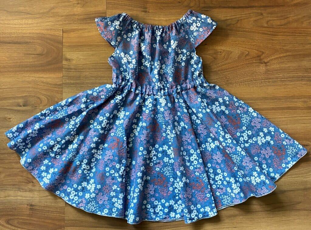 free circle skirt dress pattern for little girls