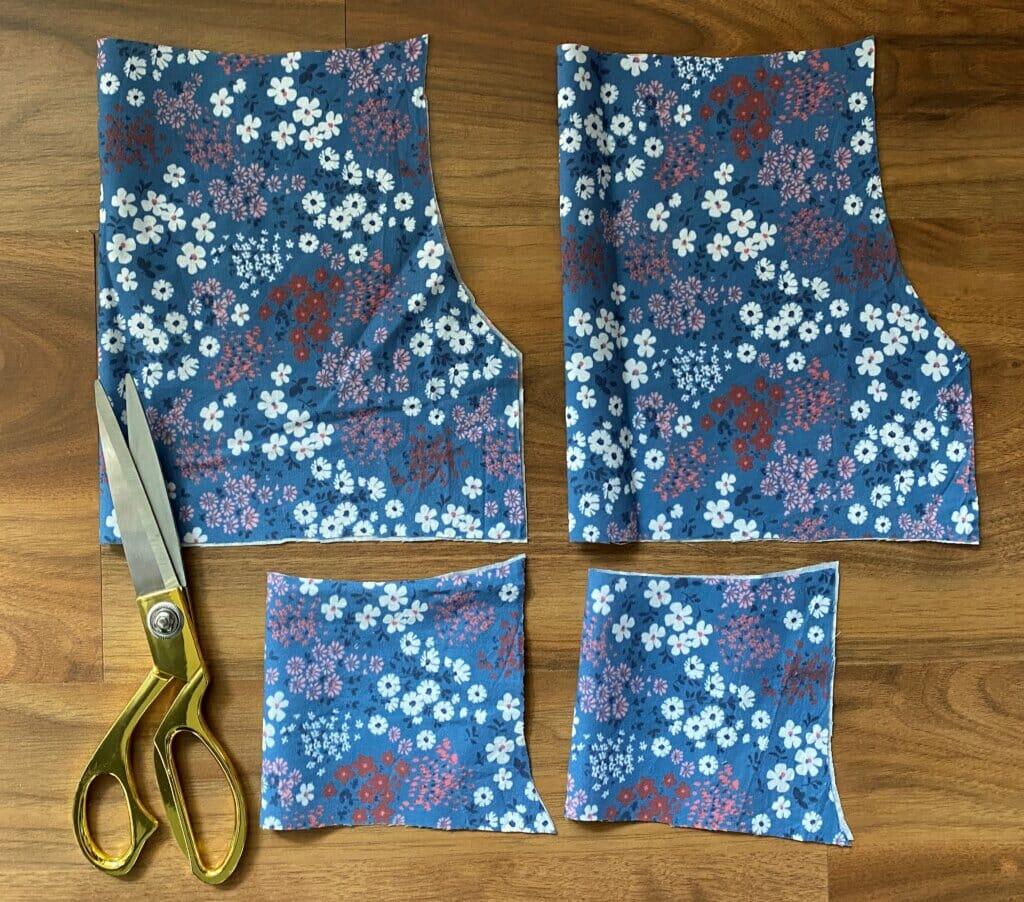 pattern pieces DIY tutorial