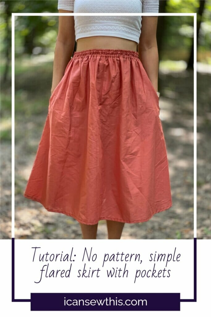 simple summer skirt with pockets tutorial