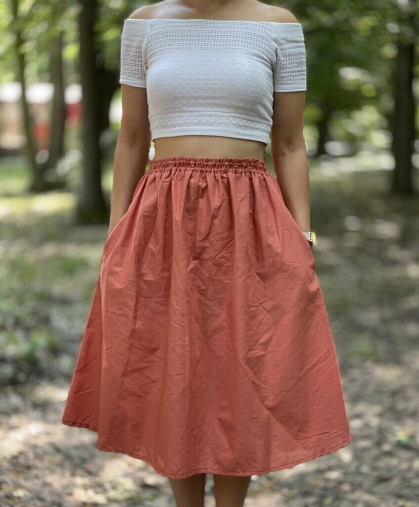 flared skirt with pockets tutorial