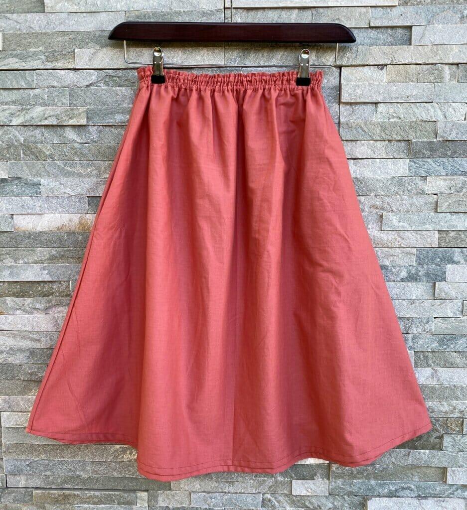 DIY summer flared skirt tutorial