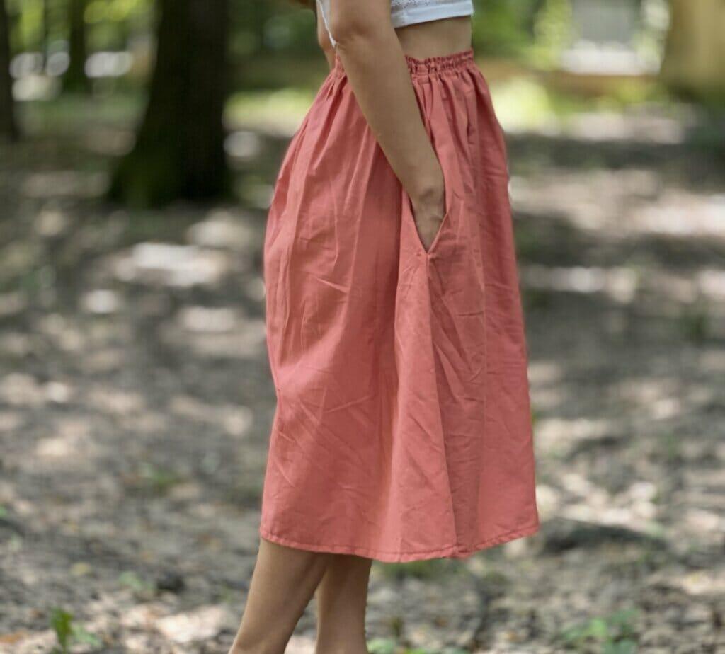 DIY summer skirt with in-seam pockets