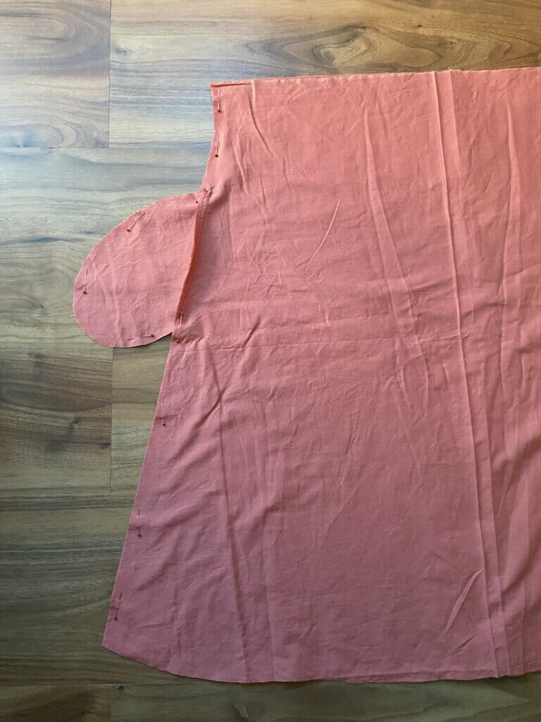 sewing side seams flared skirt