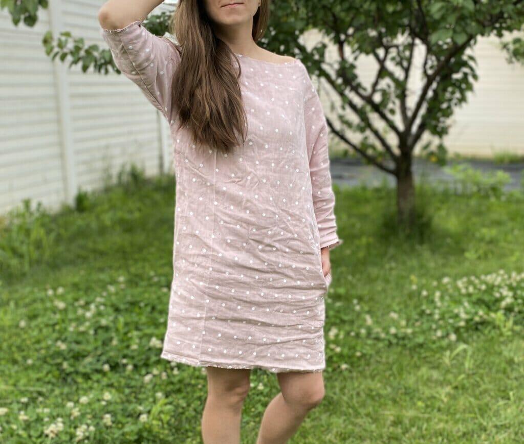 Lazy linen dress tutorial