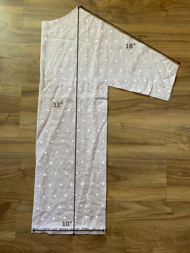 front pattern piece, lazy linen dress tutorial