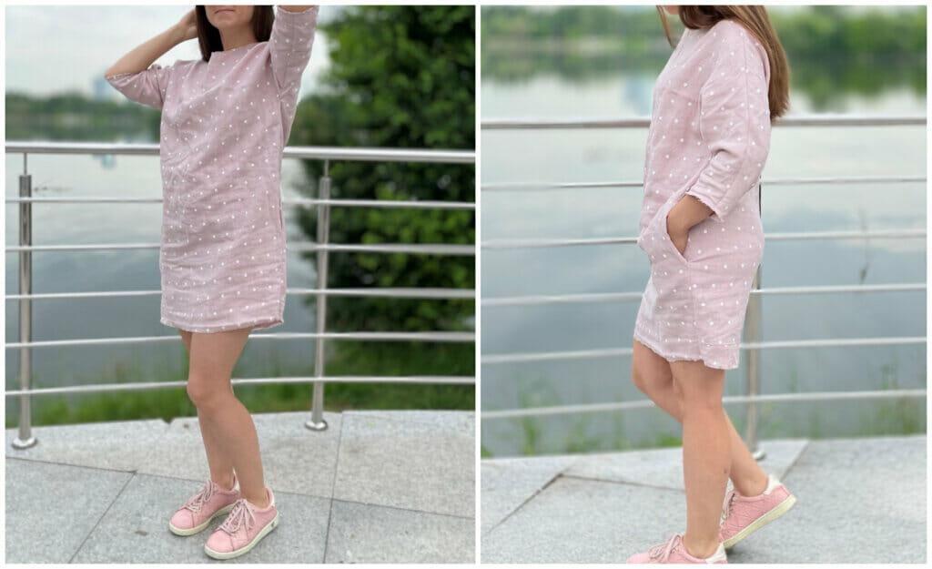 diy sewing frayed edges linen dress tutorial