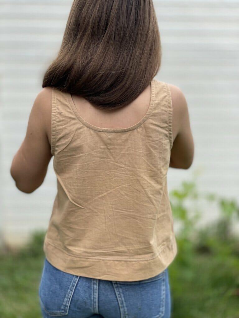 DIY simple woven top