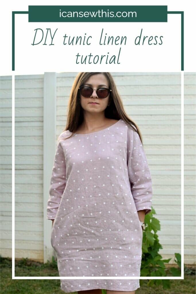 DIY tunic linen dress