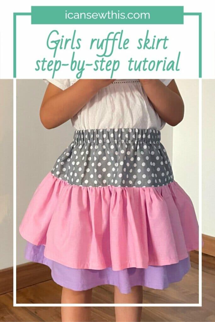 girls ruffle skirt tutorial