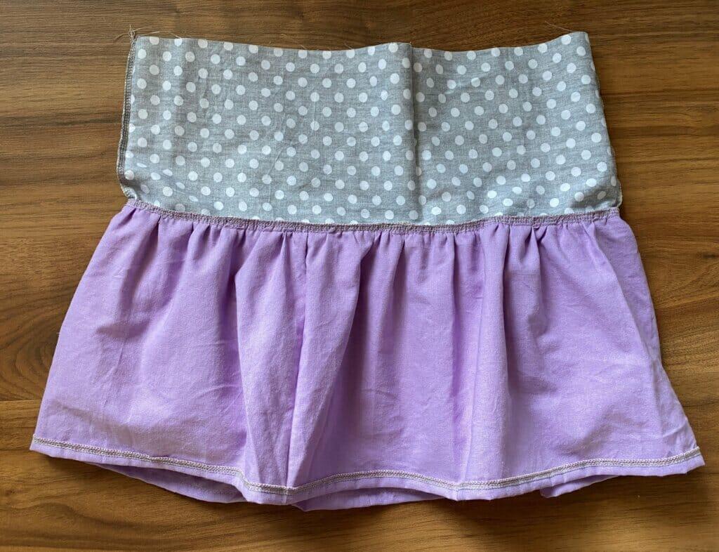 inside of a ruffle skirt