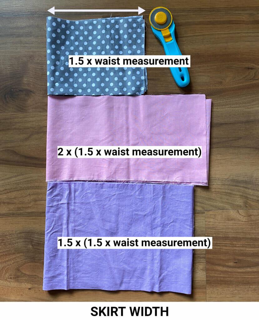 DIY ruffle skirt pattern