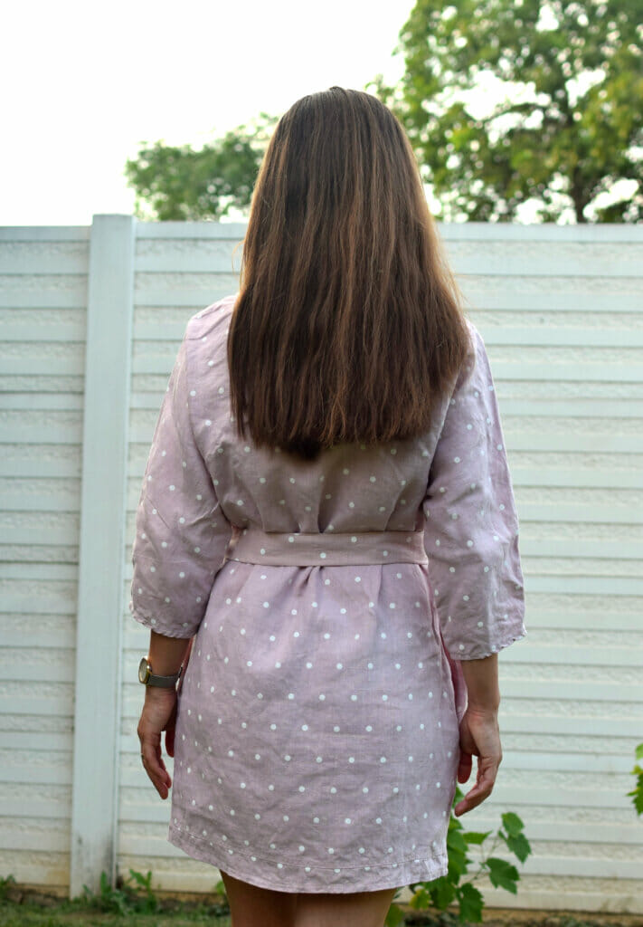 tunic dress, back view