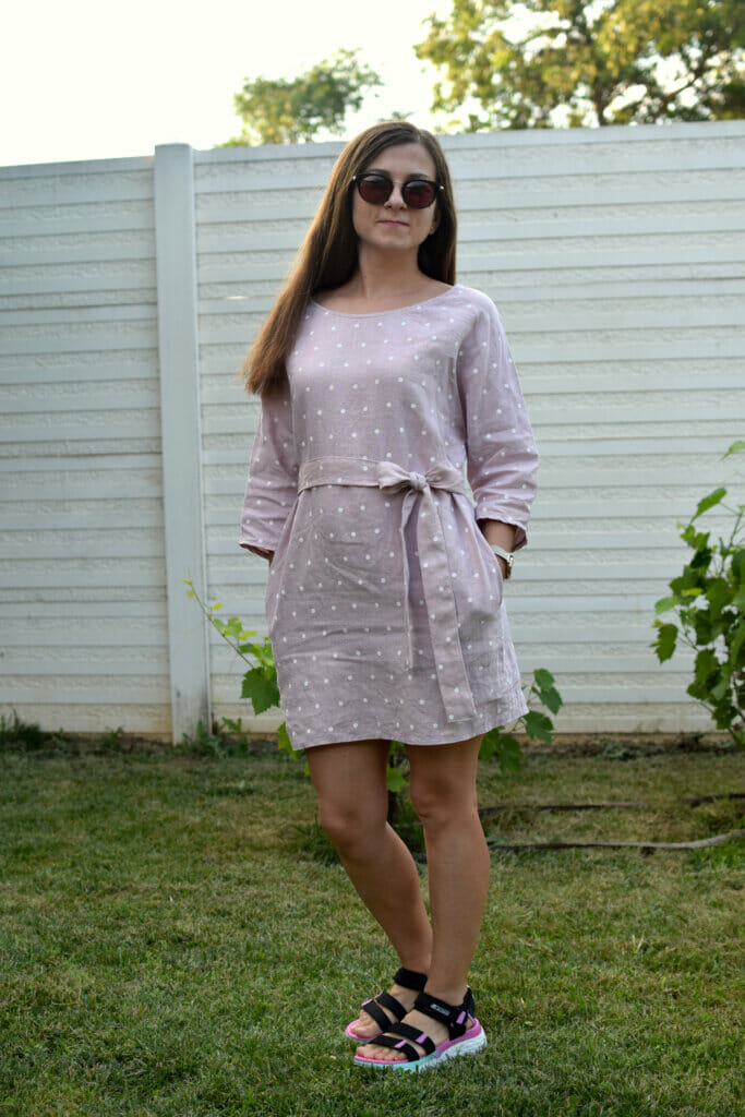 tunic linen dress tutorial