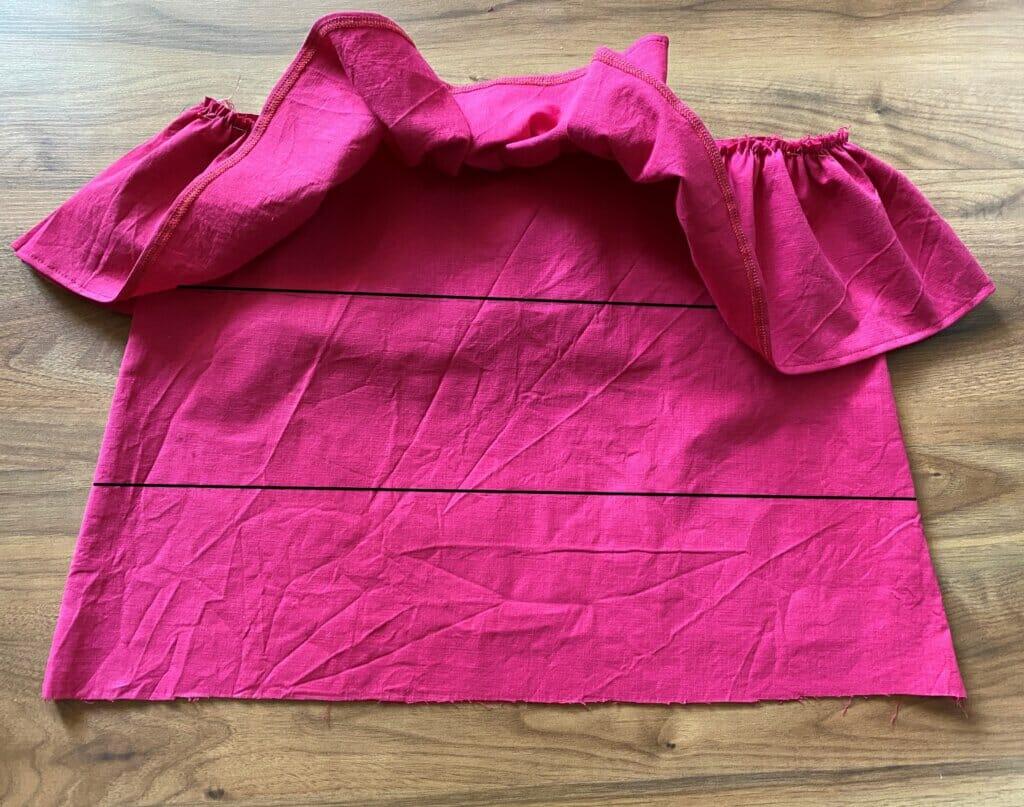 attach ruffles to the skirt