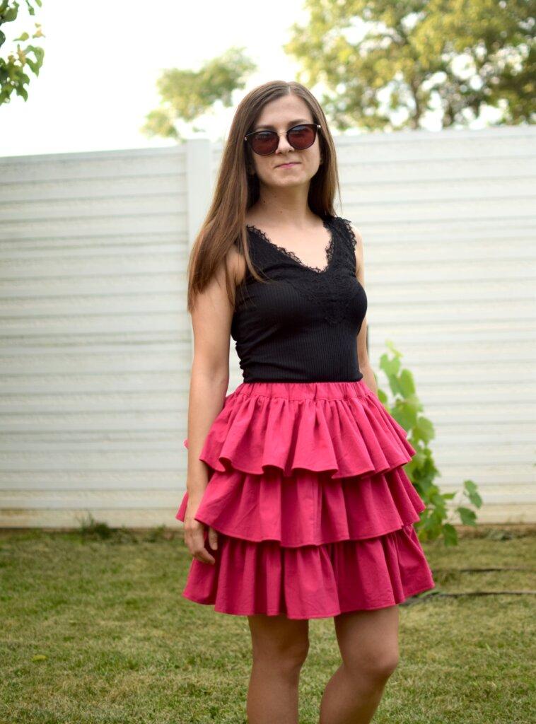 DIY tiered ruffle skirt tutorial